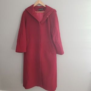 Red Kristen Blake winter coat with hood size 10